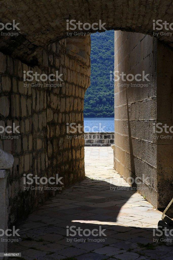 Narrow pass royalty-free stock photo