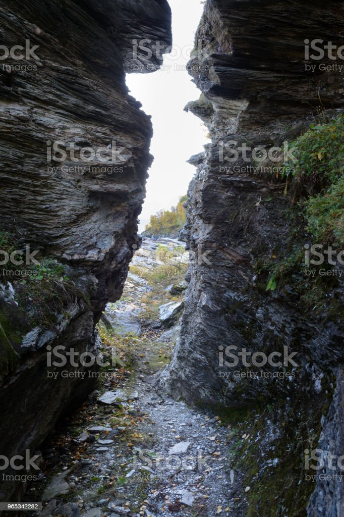 Narrow passage royalty-free stock photo