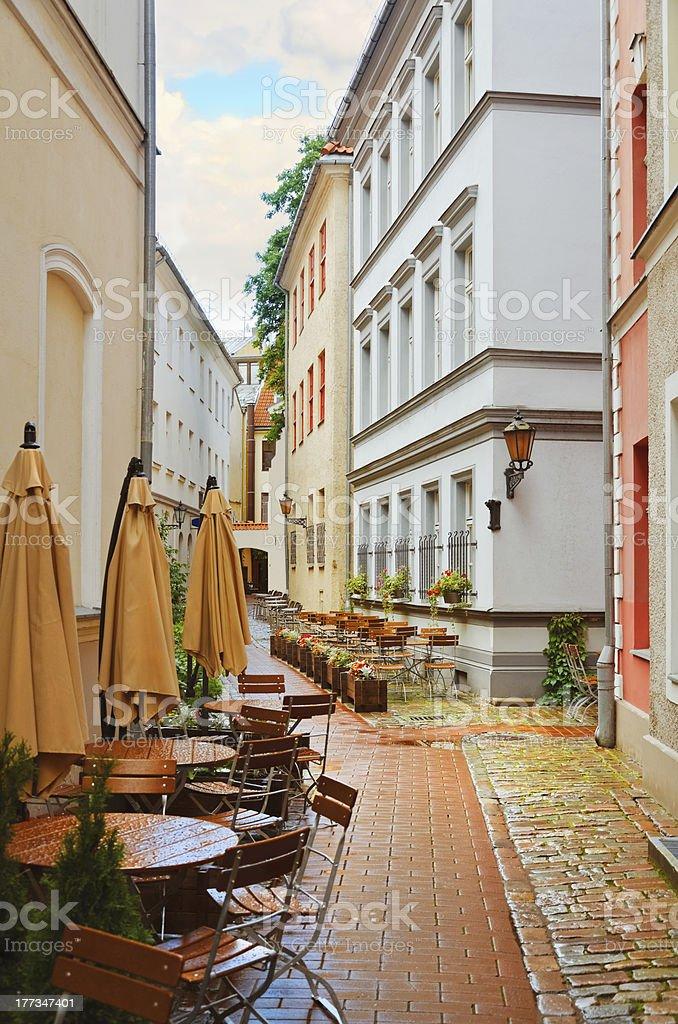 Narrow Riga street royalty-free stock photo
