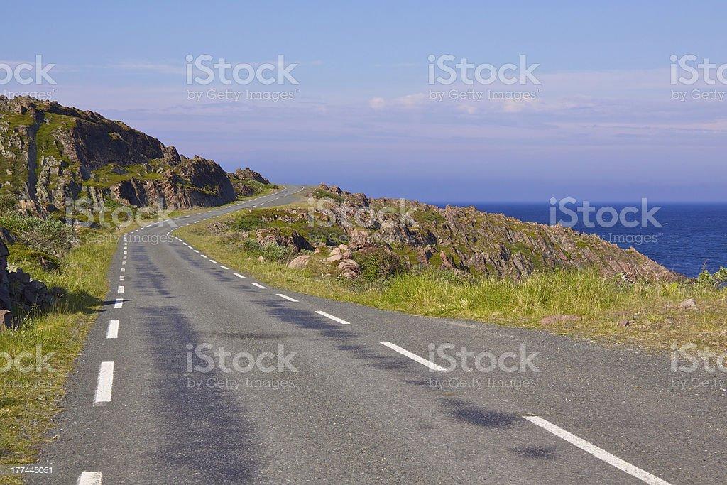 Narrow Road stock photo