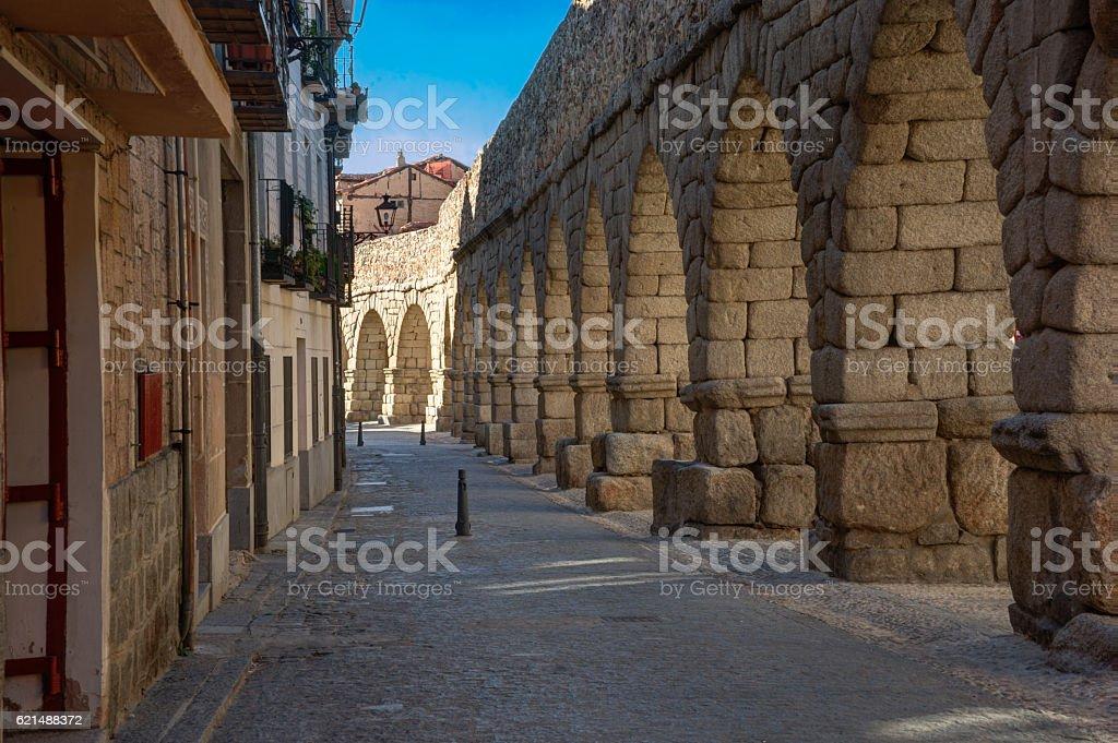 Narrow street of Segovia Lizenzfreies stock-foto