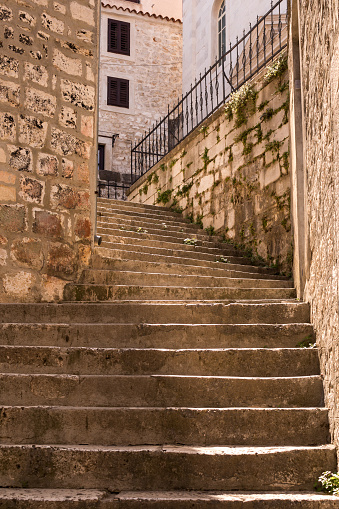 istock Narrow street of the old town, Sibenik, Croatia 1168004695