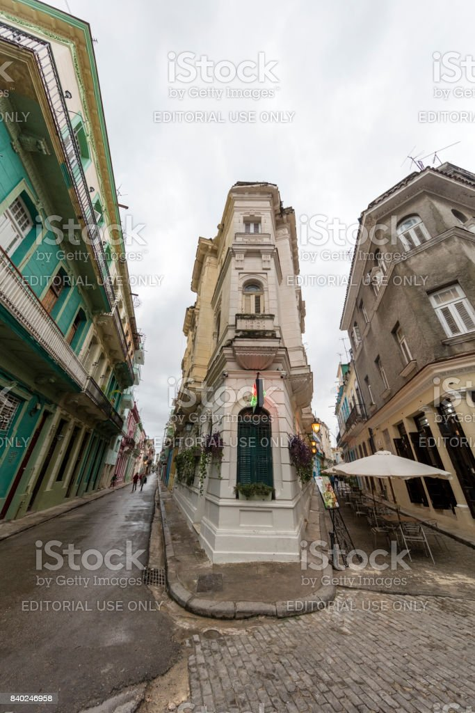 Narrow Street - Old Havana, Cuba stock photo