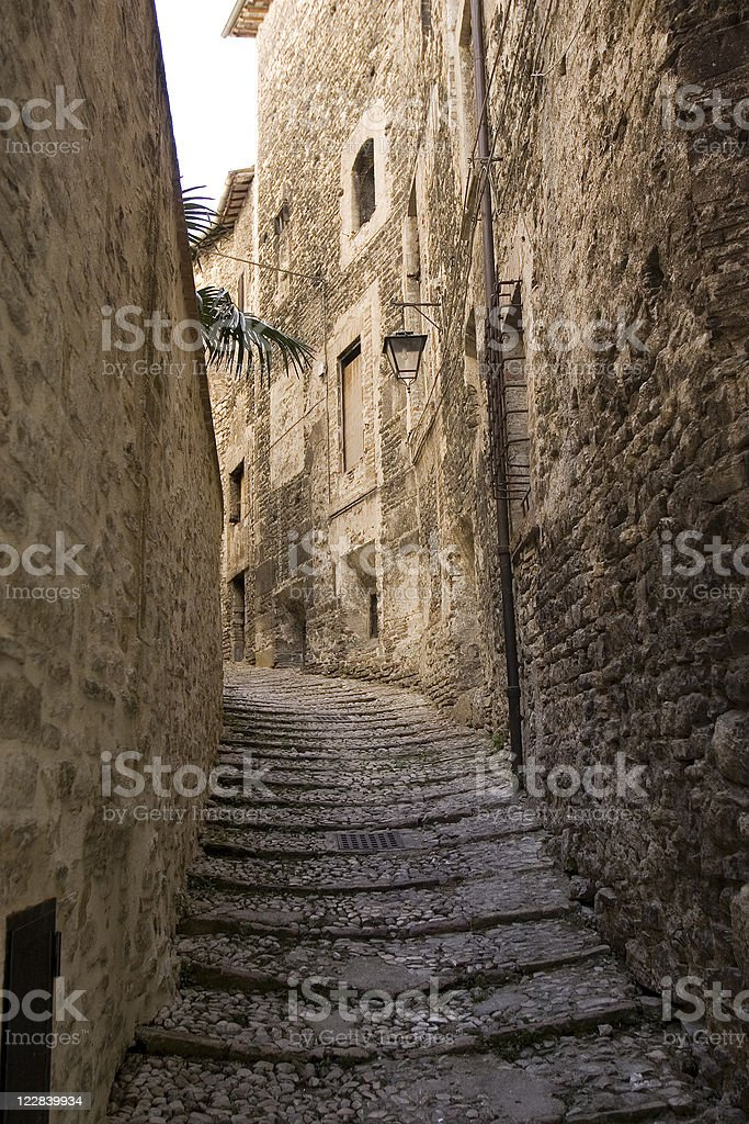 narrow street royalty-free stock photo
