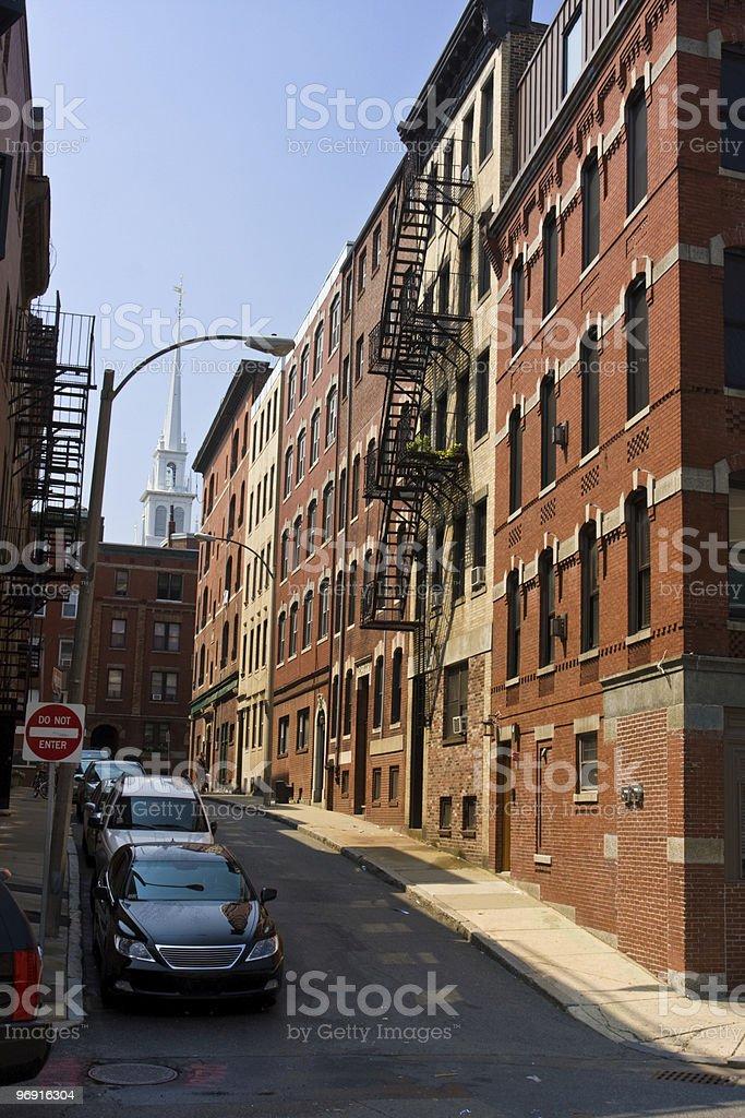 Narrow street royalty-free stock photo