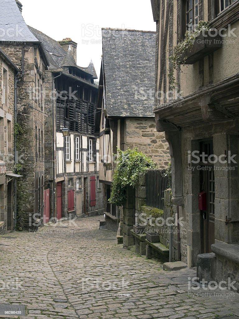 Narrow Street with Restaurant royalty-free stock photo