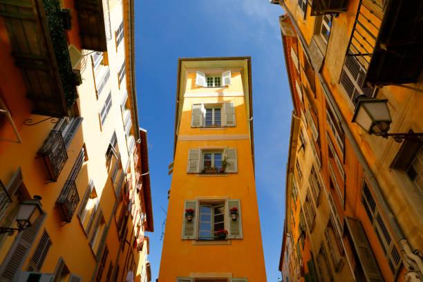 Narrow Streets in der Altstadt von Nizza, Frankreich – Foto