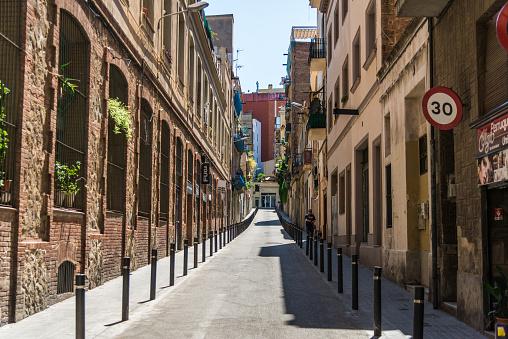 Narrow streets of El Poble Sec neighborhood