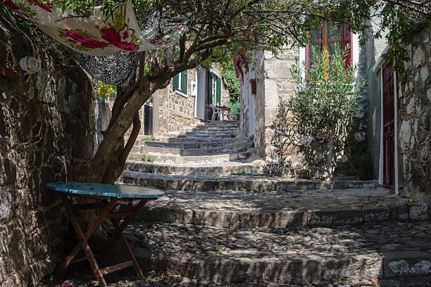 Narrow Streets of Molivos stock photo