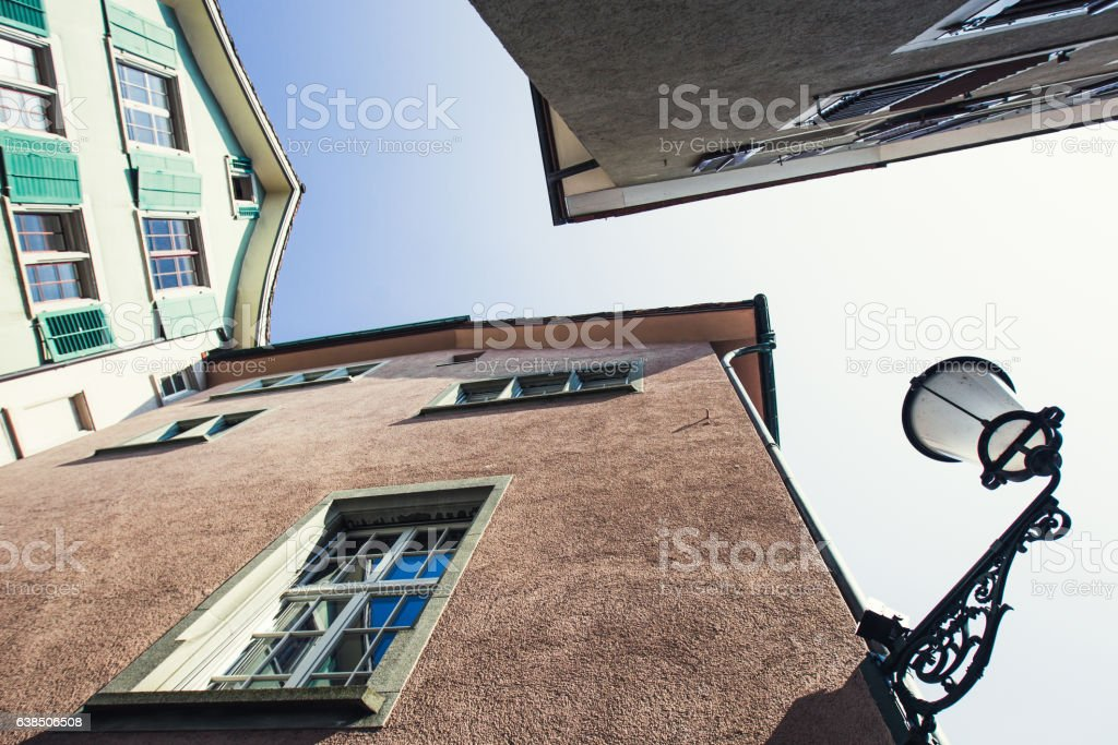 Narrow streets of the old Europe stock photo