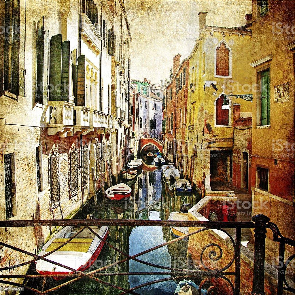 narrow streets of Venice royalty-free stock photo