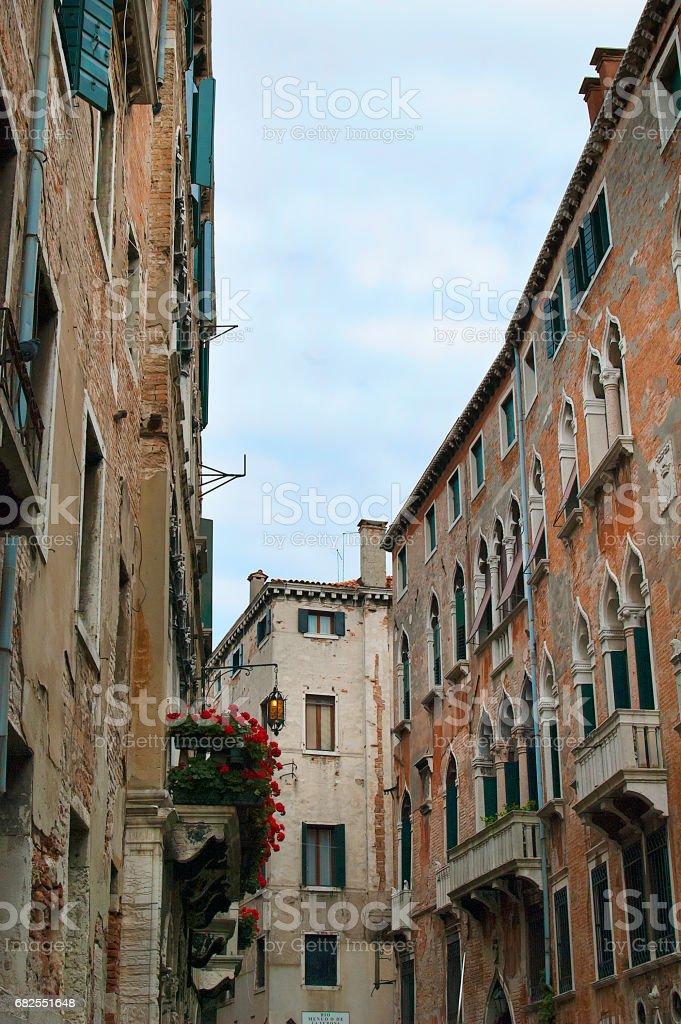 Narrow Venice street стоковое фото
