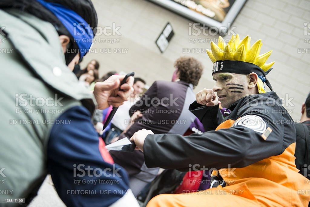 Naruto cosplayer stock photo