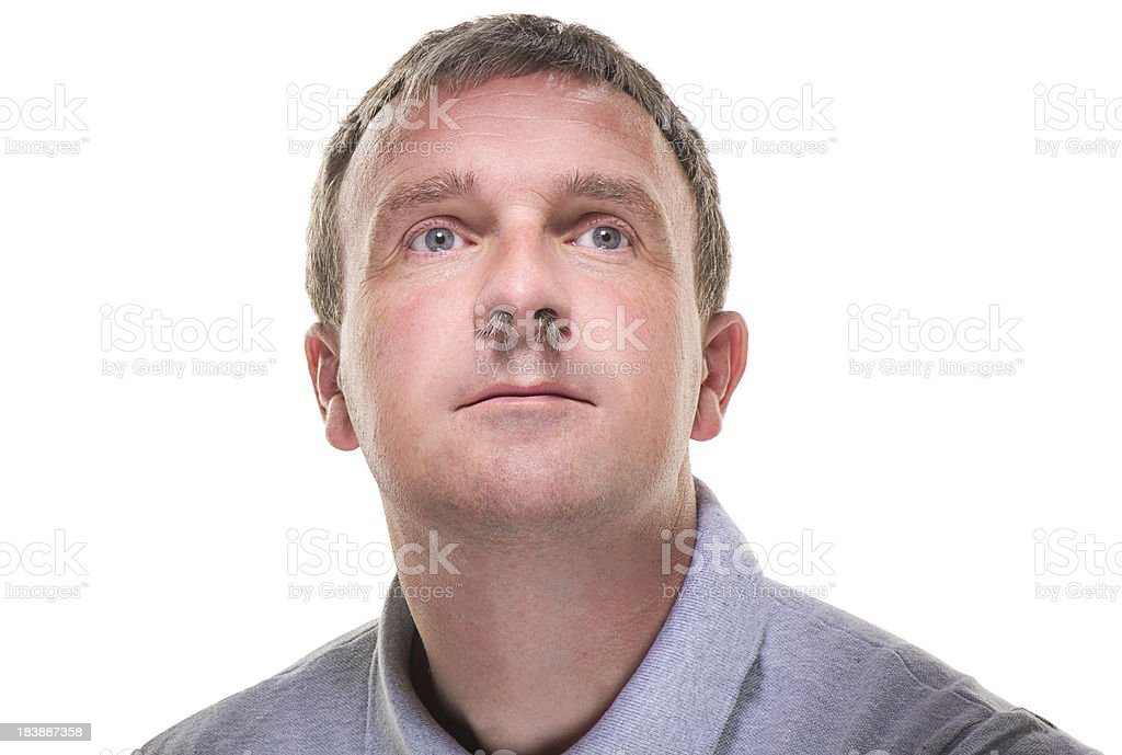 nasal hair stock photo