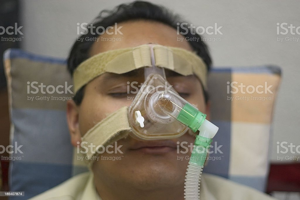 nasal mask user royalty-free stock photo