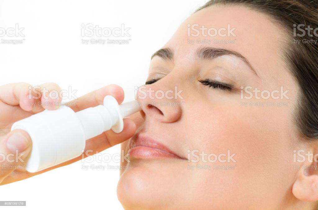 Nasal Spray stock photo
