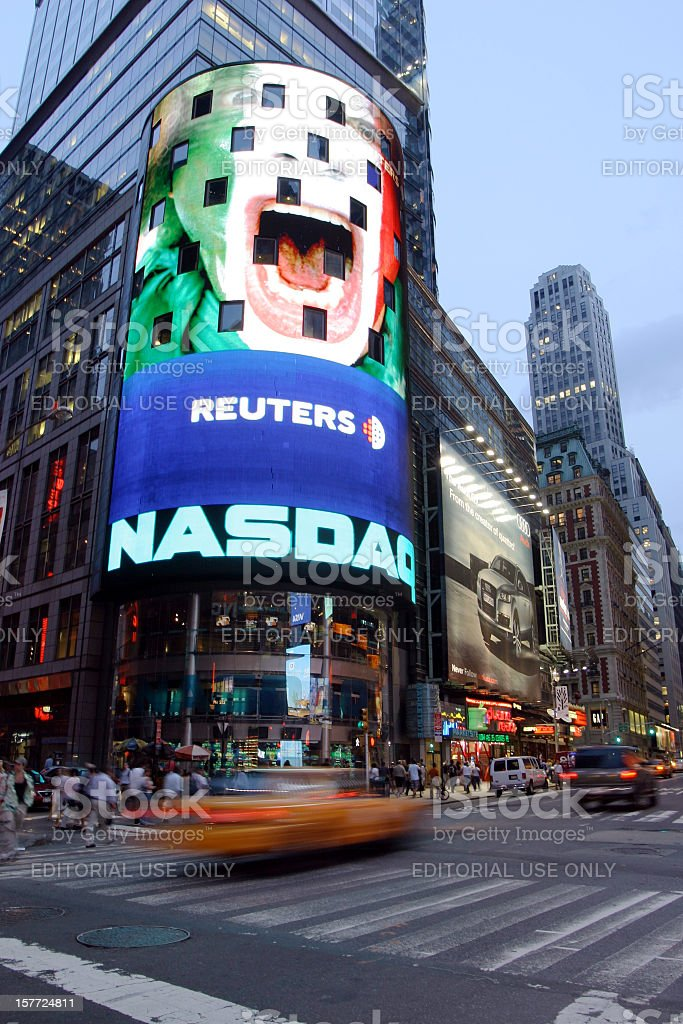 Nasdaq, NYC royalty-free stock photo