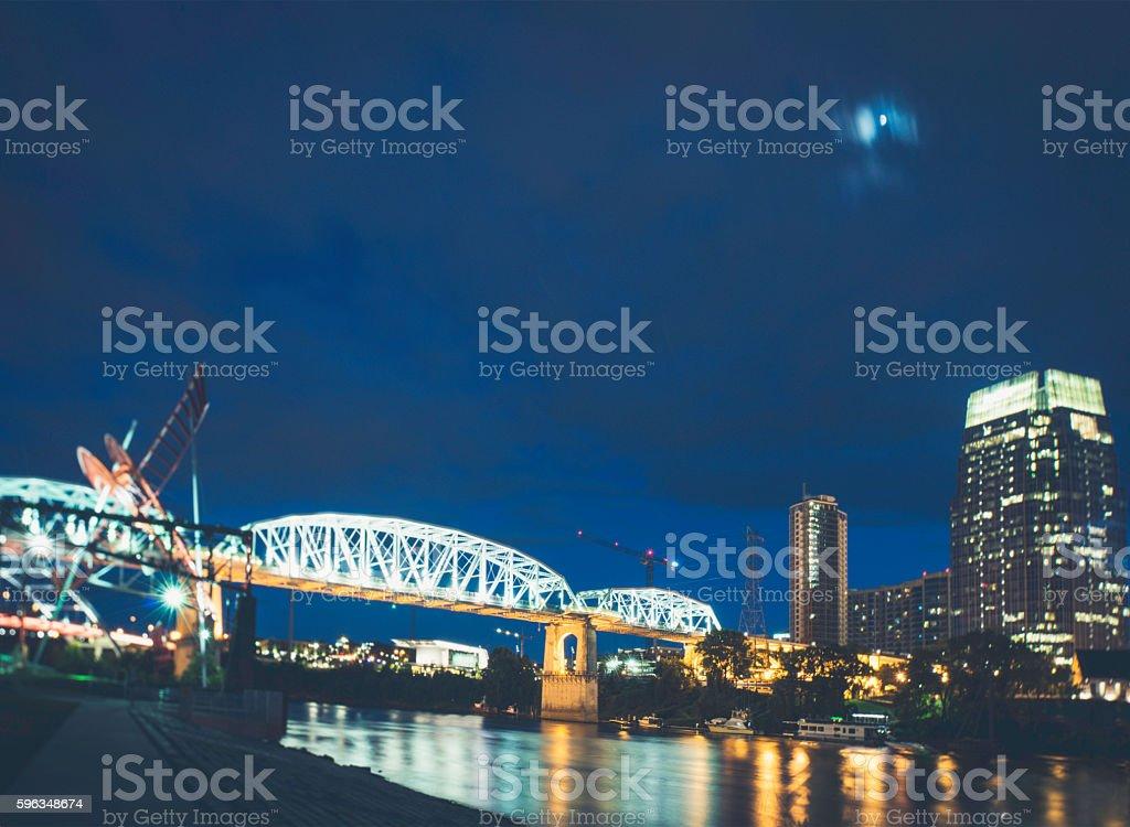 Nashville at Night royalty-free stock photo