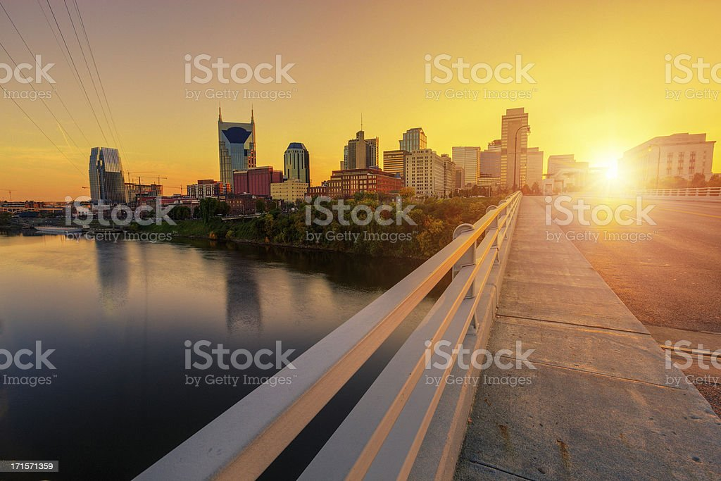 Nashville at Sunset stock photo