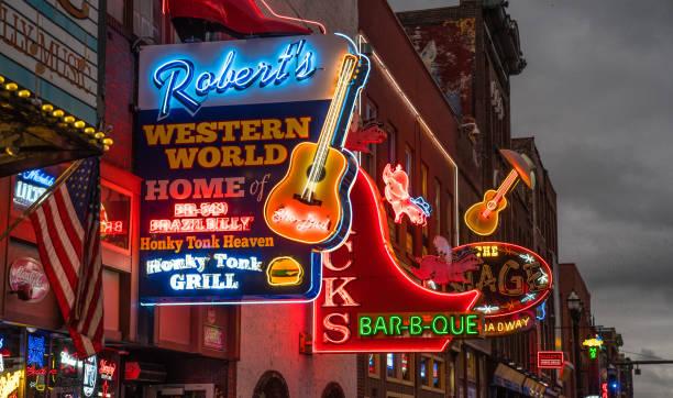 Nashville Broadway Strip stock photo