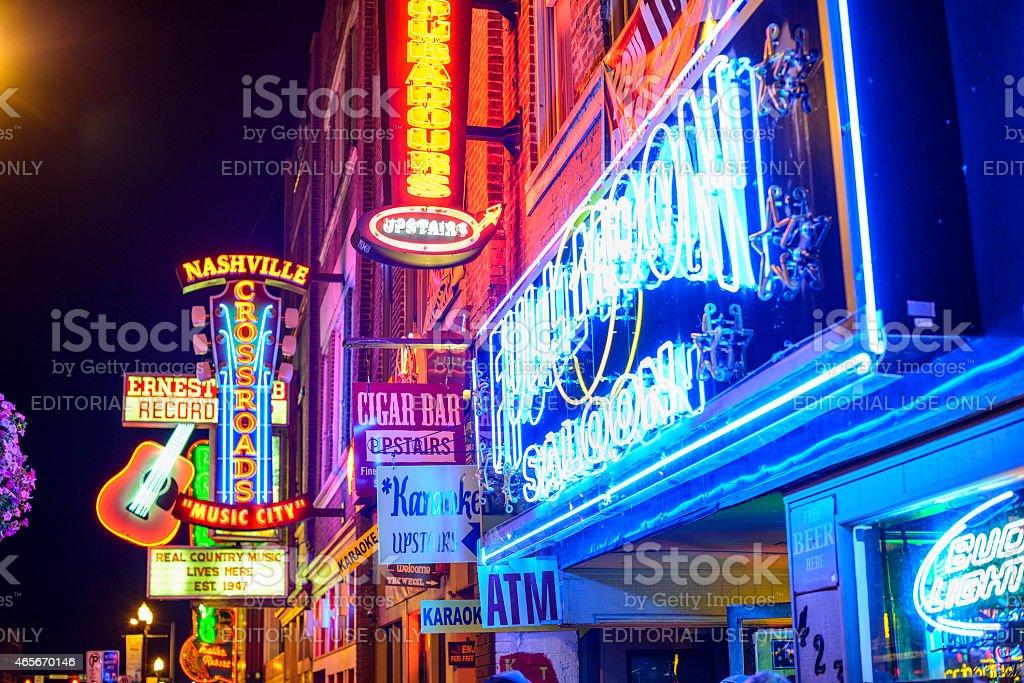 Nashville Honkey Tonk Bars royalty-free stock photo
