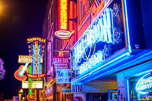 Nashville Honkey Tonk Bars Stock Photo - Download Image Now