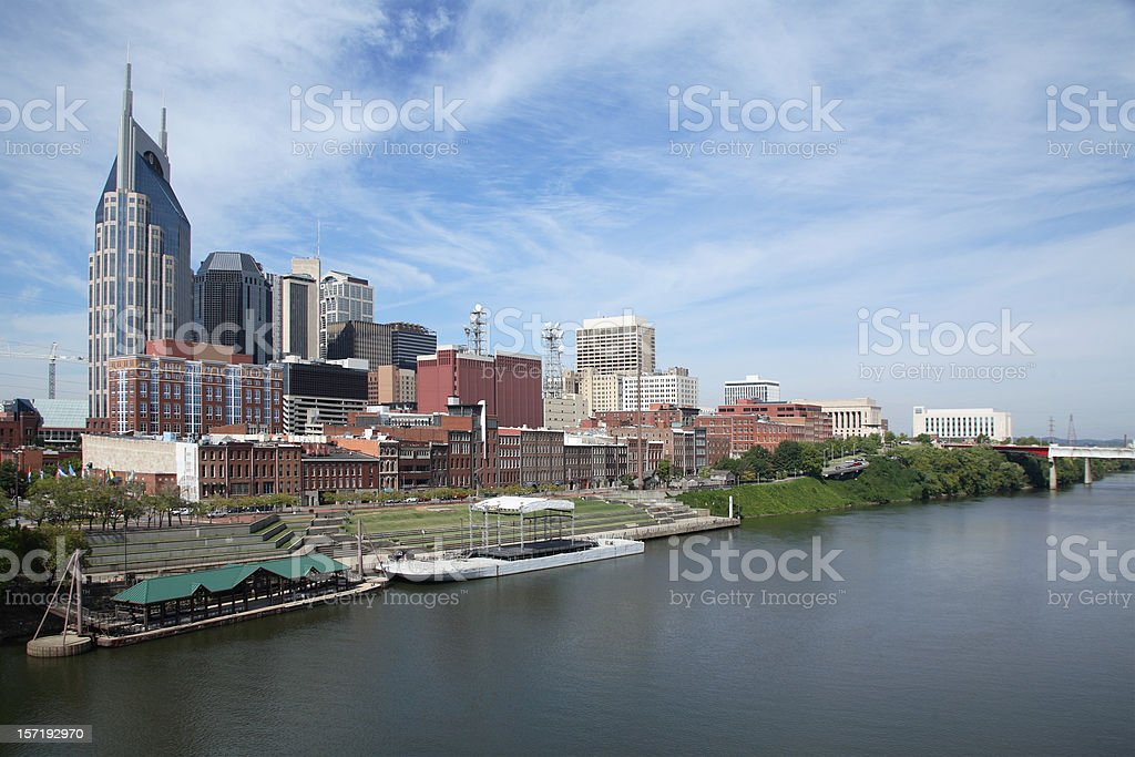 Nashville Riverfront Circa 2007 royalty-free stock photo