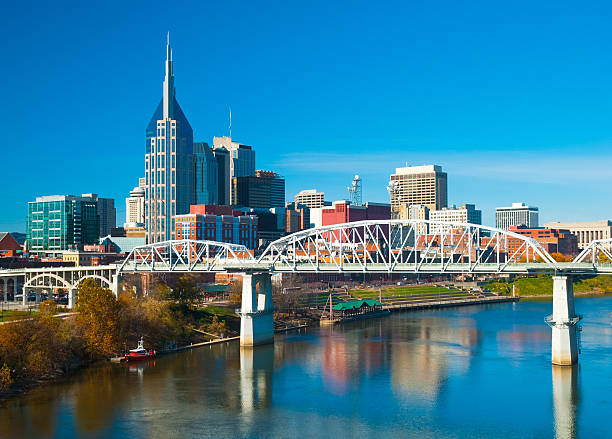 Best Sky View Of Downtown Nashville Tennessee Stock Photos