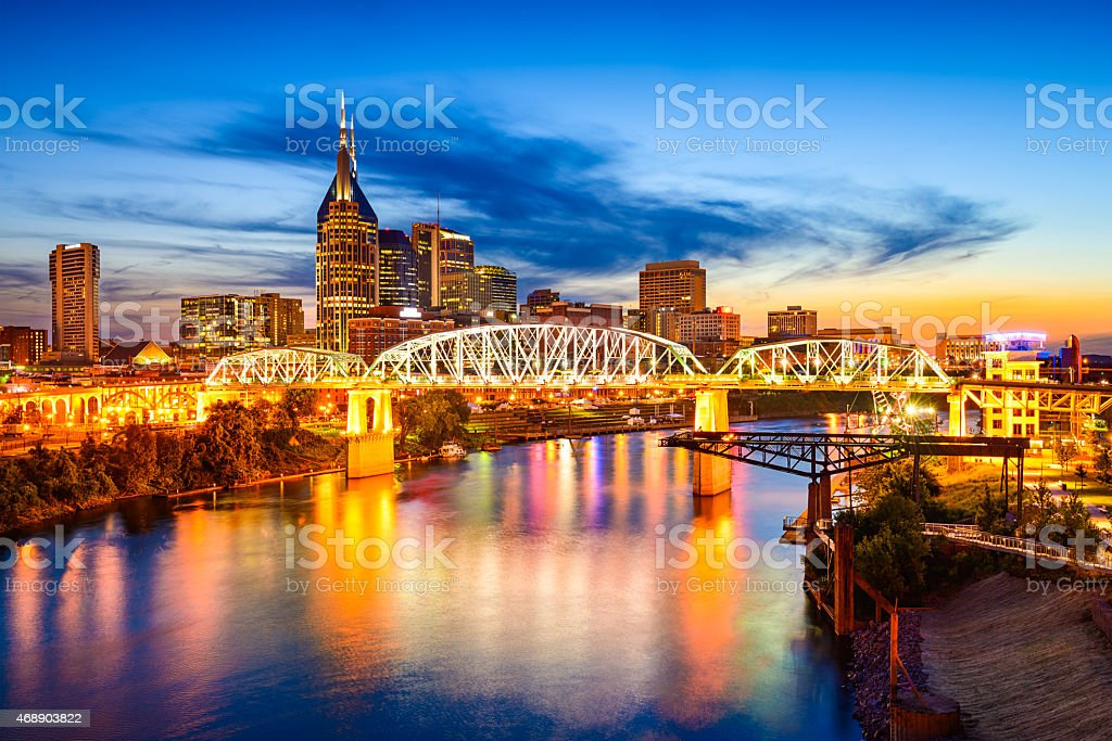 Nashville Skyline stock photo