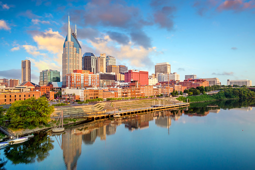 Nashville Tennessee Downtown Skyline Stock Photo - Download Image Now