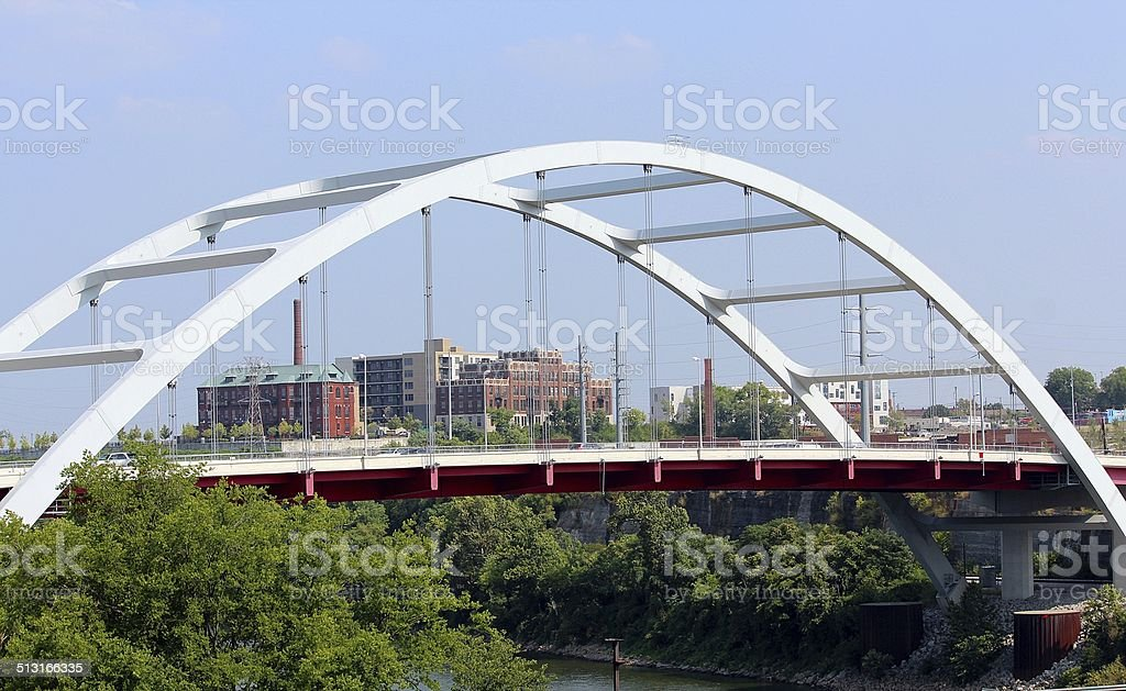 Nashville Tennessee Gateway Bridge stock photo