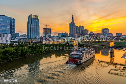 istock Nashville Tennessee Skyline at Night 1167457083