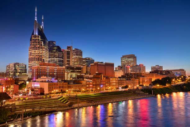 Nashville Tennessee USA downtown city skyline stock photo