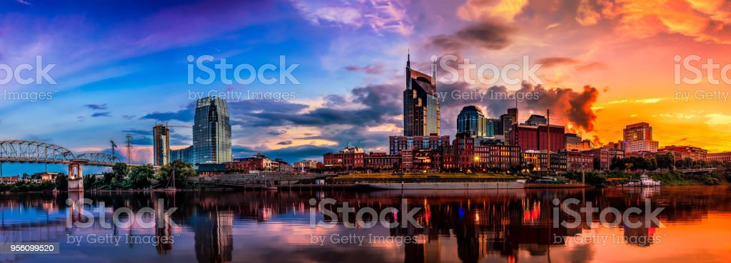 Nashville, TN skyline stock photo