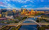 Nashville, TN Sunrise Aerial
