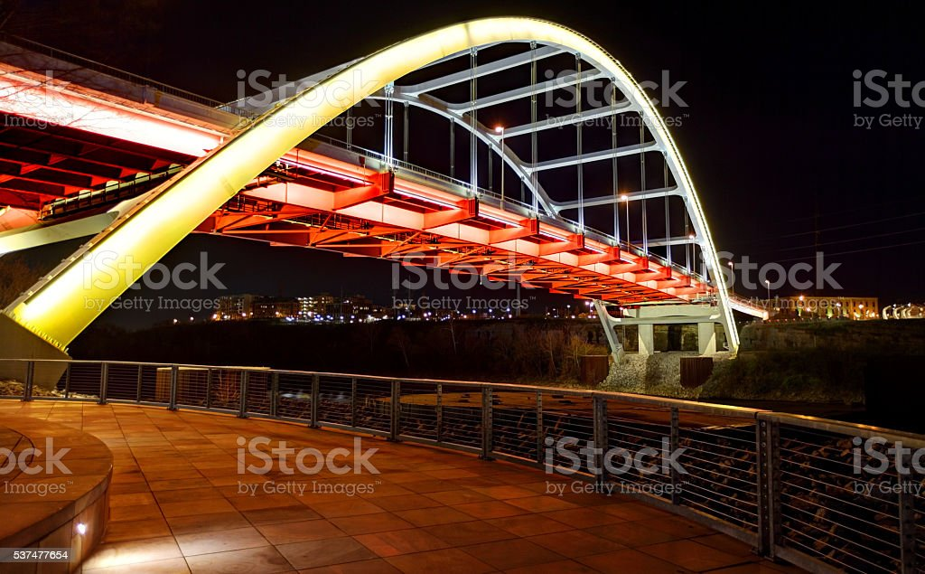 Nashville's Gateway Bridge stock photo