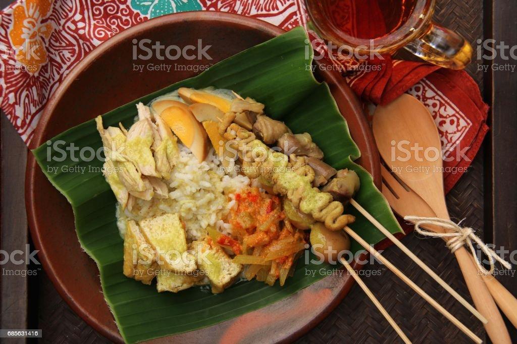 Nasi Ayam, Signature Dish of Chicken Rice von Semarang Lizenzfreies stock-foto