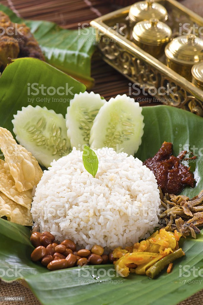 nasi lemak, a traditional malay curry royalty-free stock photo