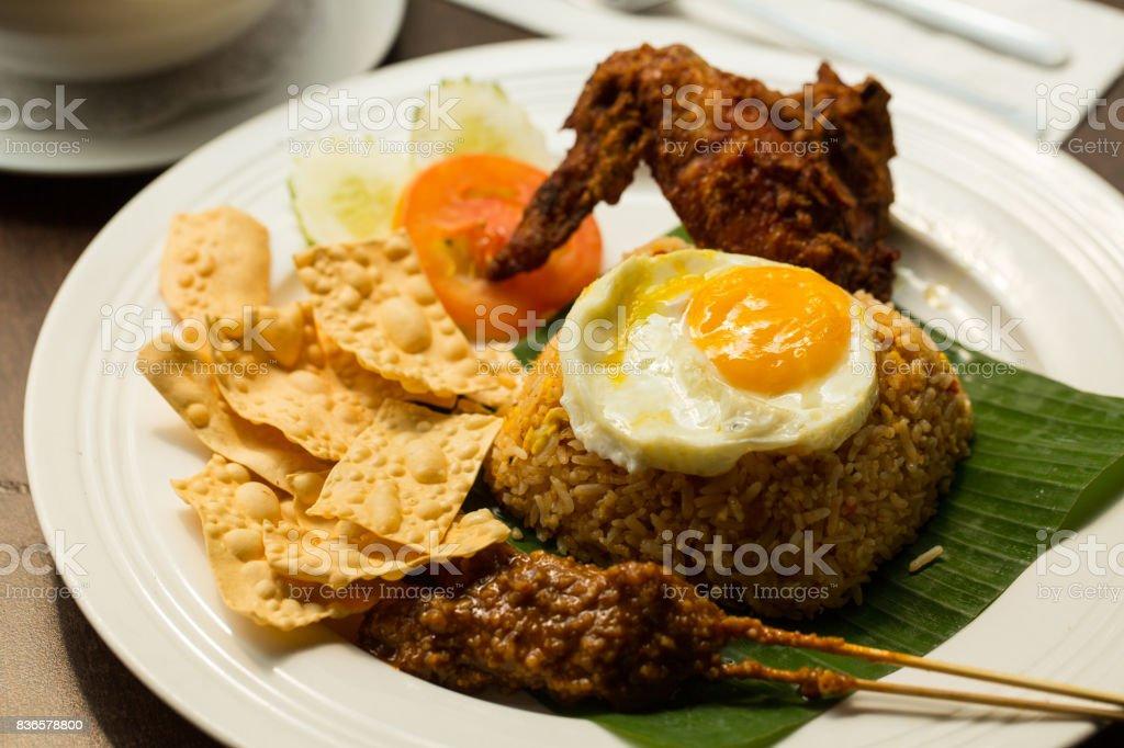 Nasi lemak rice malaysia stock photo