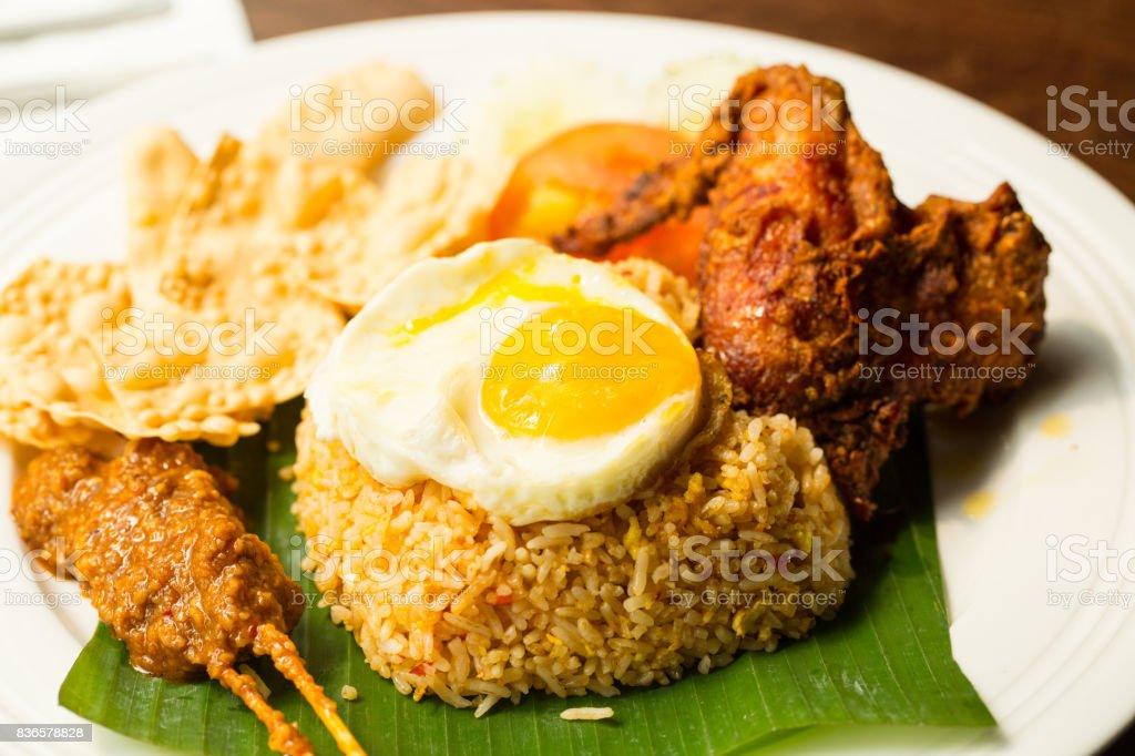 Nasi lemak rice malaysia traditional stock photo