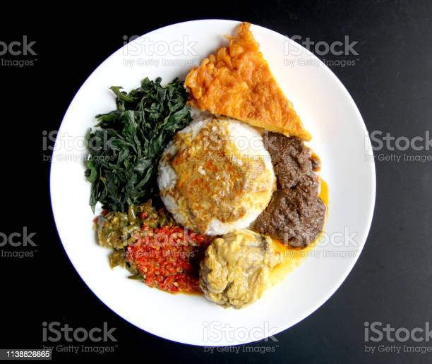 Nasi Padang With Rendang Stock Photo - Download Image Now