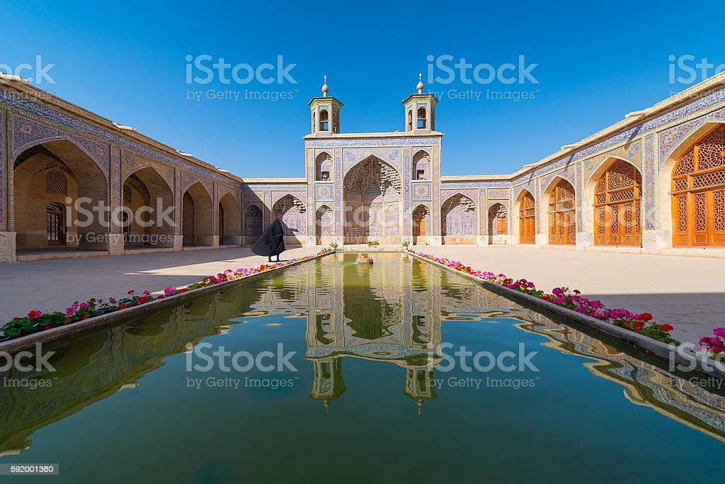 Nasir al-Mulk Mosque in Shiraz, Iran stock photo