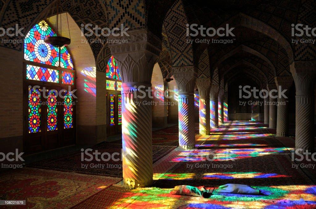 Nasir al-Mulk Mosque, Shiraz, Iran royalty-free stock photo