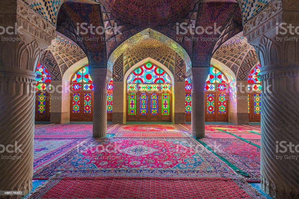 Nasir ol Molk Mosque stock photo