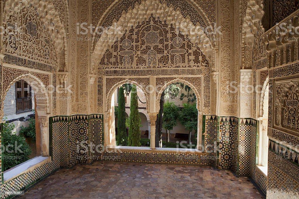 Nasrid Palaces -Alhambra - Granada, Spain stock photo