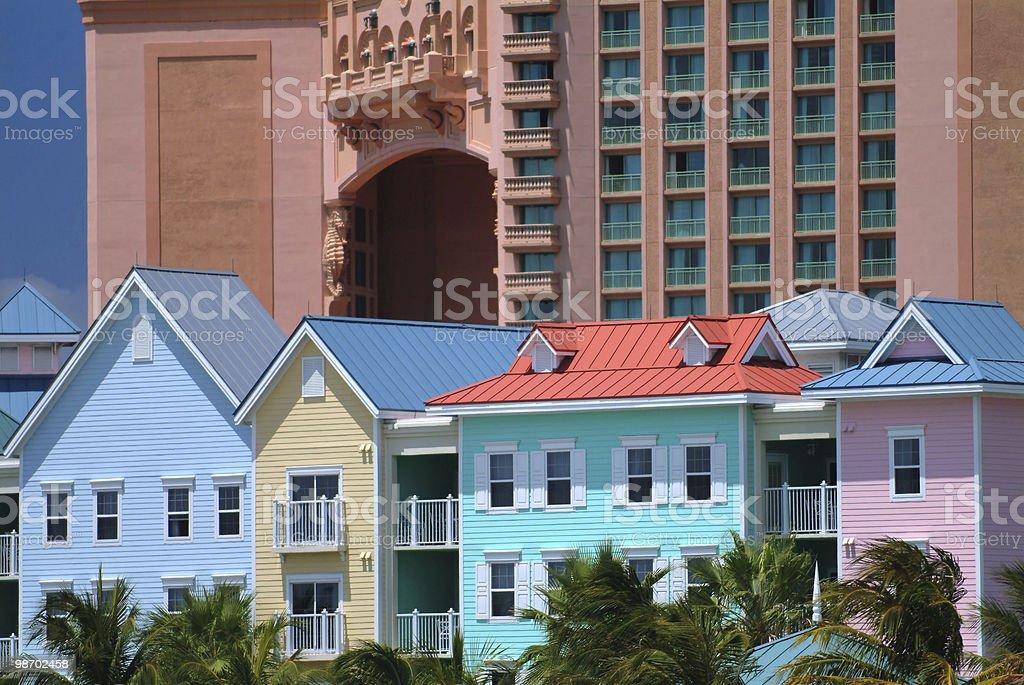 nassau bahamas scene, view from harbor royalty-free stock photo