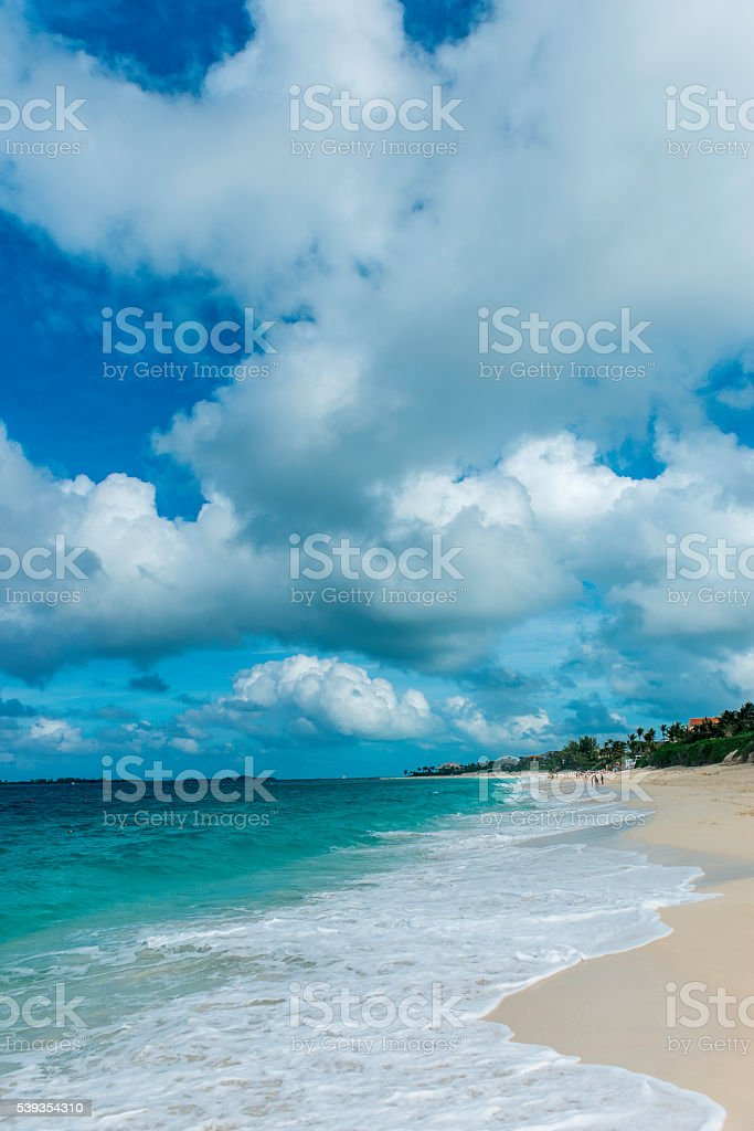 Nassau beach stock photo