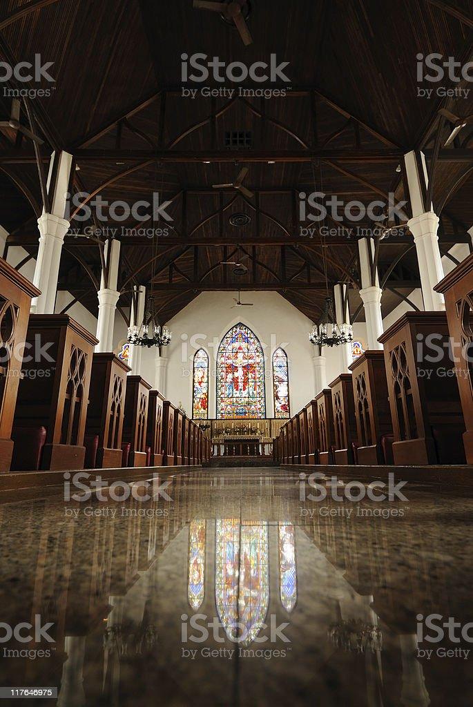 Nassau Cathedral Interior royalty-free stock photo