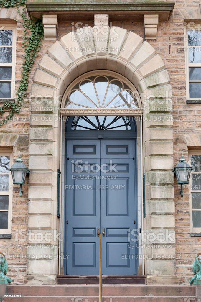 Nassau Hall at Princeton University stock photo