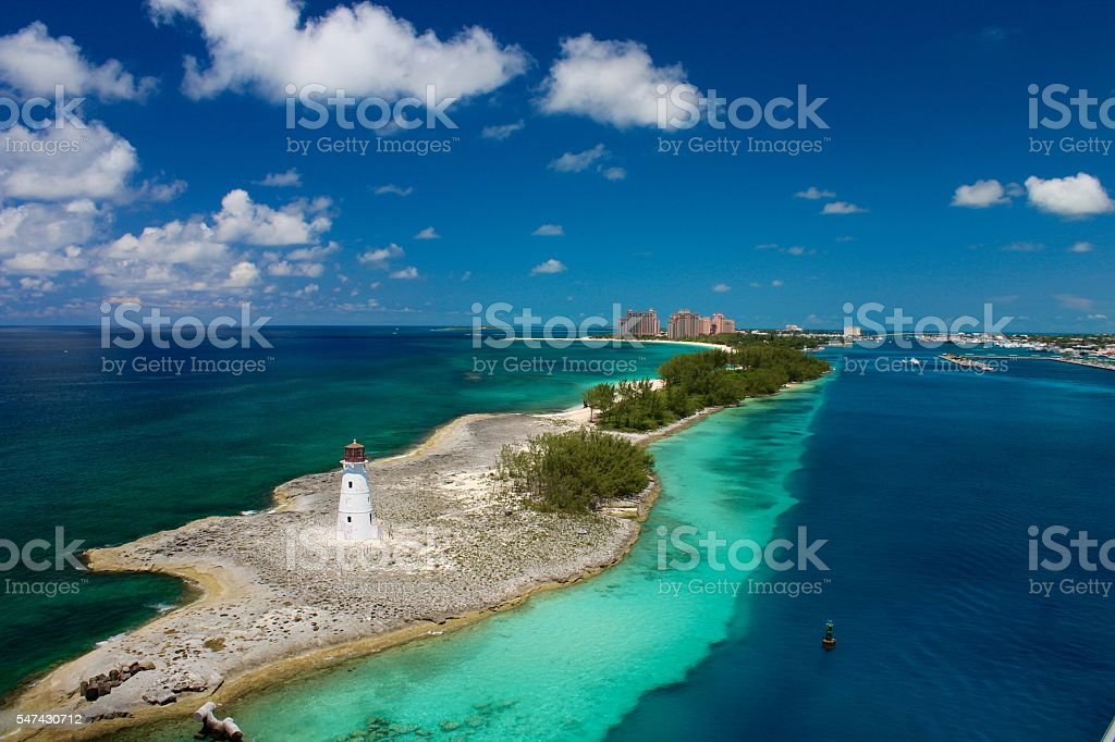 Nassau Lighthouse stock photo